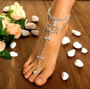 Jewelry - Gorgeous Anklet and Toe Ring Combo